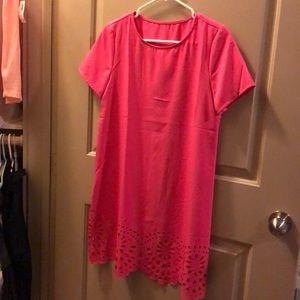 Dresses & Skirts - NWOT! Hot pink detailed A line dress